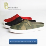 Newest Canvas Loafers Semi-Slipper with Camouflage Upper
