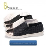 Light PU Injection Casual Footwear with Hemp Rope Foxing